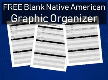 FREE GRAPHIC ORGANIZER to be used with Native American PowerPoint