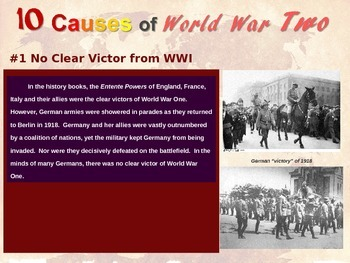 """FREE GRAPHIC ORGANIZER to go with """"Ten Causes of World War Two"""" resource"""