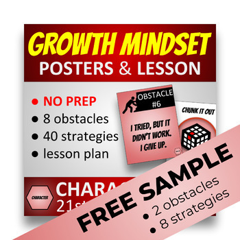 FREE GROWTH MINDSET POSTERS