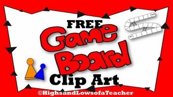 FREE Game Board Clip Art