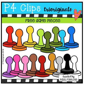 FREE Game Pieces (P4 Clips Trioriginals Digital Clip Art)