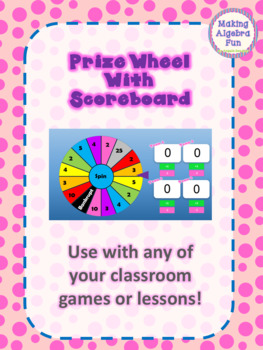 FREE Game Prize Wheel with Scoreboard to be used with any game or lesson