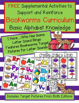 FREE Games to Support Bookworms Curriculum Basic Alphabet Knowledge