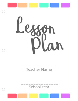 FREE General Lesson Planner- 21 Pages