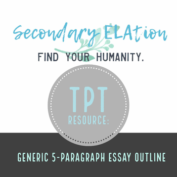 FREE Generic 5-Paragraph Essay Outline