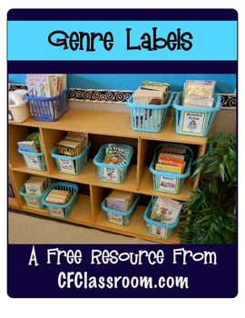 FREE Genre Labels for Your Classroom Library from CFClassroom.com