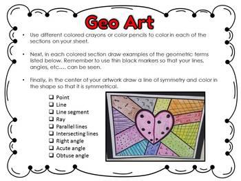 FREE Geo Art {Lines, Angles, Symmetry, etc...)