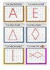 FREE Geoboard Shape, Letters, Numbers and Objects Task Cards
