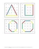 FREE Geoboard Shape Pattern Cards