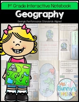 FREE Geography Interactive Notebook 1st Grade
