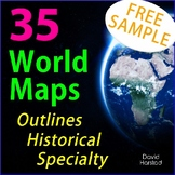 FREE - Geography World Map (Grades K-12)