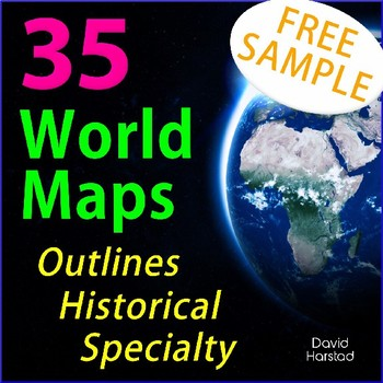 FREE - Geography World Map (Grades K-12)