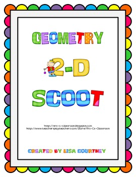 FREE Geometry 2-D Scoot - lines / angles / shapes