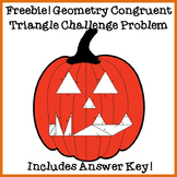 FREE Geometry Congruent Triangle Challenge Problem and Coloring Page: Halloween