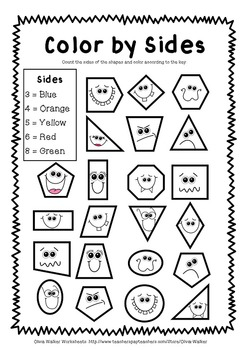 photo relating to Printable Geometry Shapes referred to as Condition Worksheets - Geometry Worksheets - Kindergarten / Quality One particular - No cost