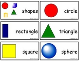FREE Geometry Vocabulary Cards-Comic Sans Version