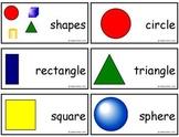 FREE Geometry Vocabulary Cards-Comic Sans Version