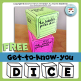 La rentrée scolaire GRATUIT | FREE French Back-to-school Dice