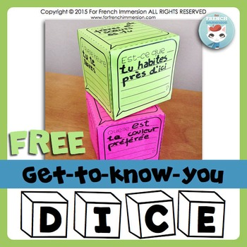 FREE Get to know you DICE