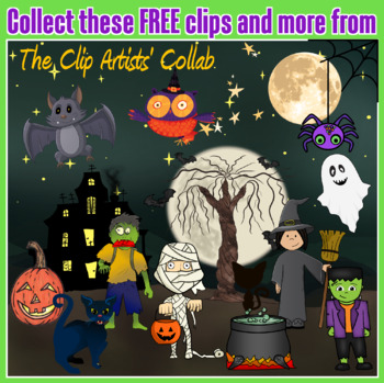 FREE Ghost Clip Art | September 2017 Clip Artists' Collab