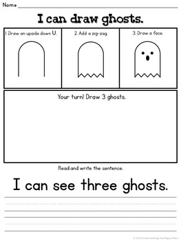 {FREE} Ghosts! Drawing, Reading, Writing, and Counting for Kindergarten