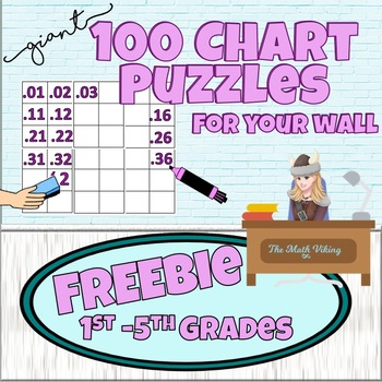 FREE Giant  WALL SIZE Blank Hundred Chart 120 Charts Hundredths Math Decor