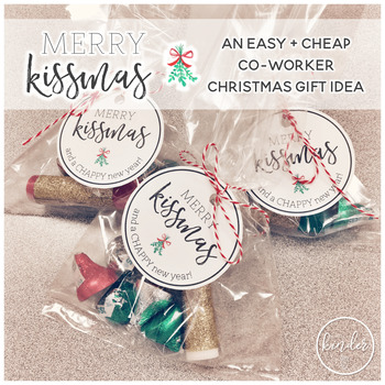 FREE Gift Tag: Merry Kissmas & A Chappy New Year!