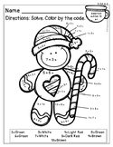 FREE Addition Color by Number - Gingerbread Theme
