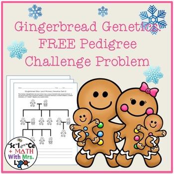FREE Gingerbread Genetics: Pedigree Challenge Problem