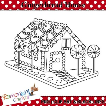 Gingerbread House Clip art FREE