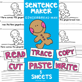 FREE Gingerbread Man Writing Pages