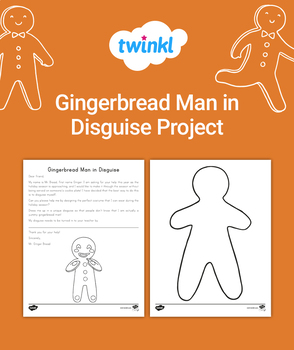 FREE Gingerbread Man in Disguise Project