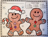 FREE Gingerbread Men Color by Number