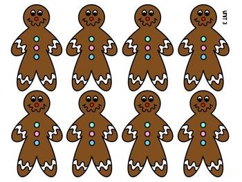 FREE Gingerbread Men Kindergarten Sight Word SNAP!!! Game for Journeys Unit 3