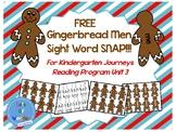 FREE Gingerbread Men Kindergarten Sight Word SNAP!!! Game