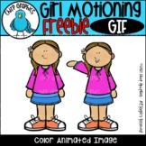 FREE Girl Motioning GIF - Chirp Graphics