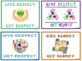 FREE!!  Give Respect - Get Respect:  Classroom Mini-Posters