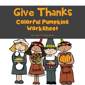 FREE Give Thanks- Colorful Pumpkins