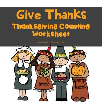 FREE Give Thanks-Thanksgiving Counting Worksheet | TpT