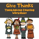 FREE Give Thanks-Thanksgiving Counting Worksheet