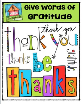 FREE Give Words of Gratitude {P4 Clips Trioriginals}