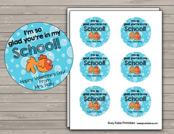 FREE Back to School Card - Favor - Gold Fish