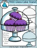 FREE Glass Cake Stand Clip Art Set - Chirp Graphics