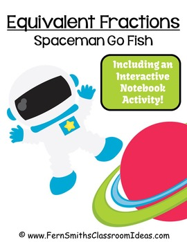 Fractions Go Spaceman Equivalent Fractions Card Game Freebie