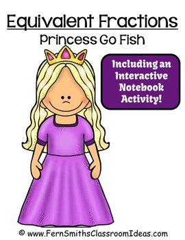 Free Fractions Go Princess Equivalent Fractions Card Game
