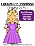 Fractions Go Princess Equivalent Fractions Card Game Freebie