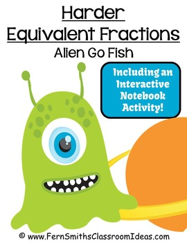 Fractions Go Alien Equivalent Fractions Card Game Freebie