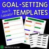 FREE Goal Setting Templates- Editable!