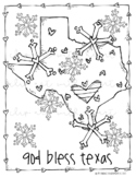 FREE God Bless Texas Coloring Page - PRINTABLE - by Melonh