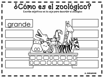 FREE Going to the Zoo in Spanish